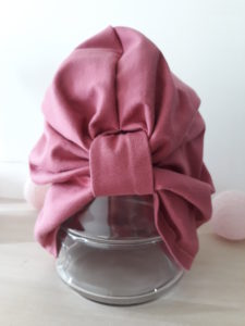 bonnet turban bordeaux vue de face